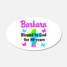 BLESSED 80 YR OLD Wall Decal