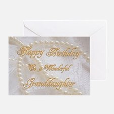 Birthday card for granddaughter with pearls Greeti