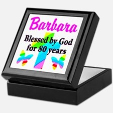 BLESSED 80 YR OLD Keepsake Box