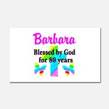 BLESSED 80 YR OLD Car Magnet 20 x 12