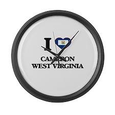 I love Cameron West Virginia Large Wall Clock