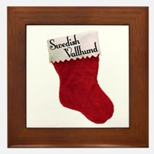 Vallhund Stocking Framed Tile