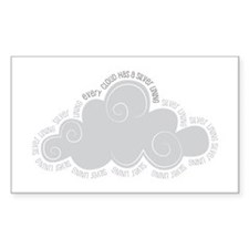 Every cloud has a silver lining Decal