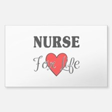 Nurse For Life Rectangle Decal