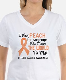 Uterine Cancer MeansWorldTo Shirt