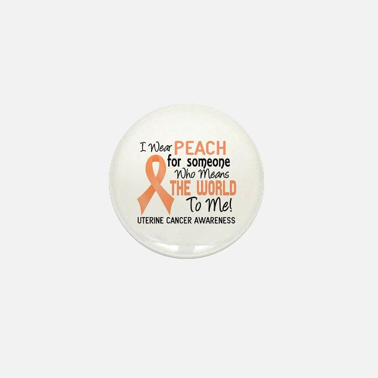 Uterine Cancer MeansWorldToMe2 Mini Button