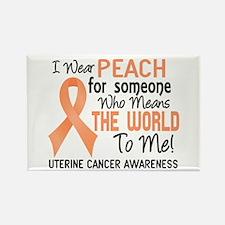 Uterine Cancer MeansWorldToMe2 Rectangle Magnet