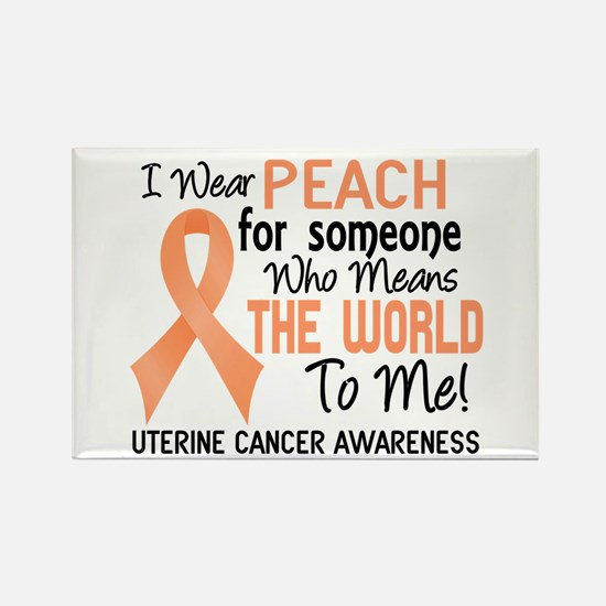 Uterine Cancer MeansWorldToMe2 Rectangle Magnet