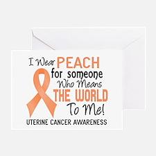 Uterine Cancer MeansWorldToMe2 Greeting Card