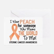Uterine Cancer MeansWorl Greeting Cards (Pk of 20)