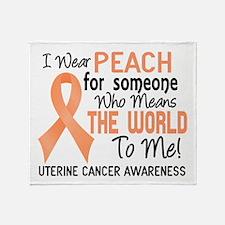 Uterine Cancer MeansWorldToMe2 Throw Blanket