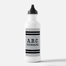 Black Gray Sports Jers Water Bottle