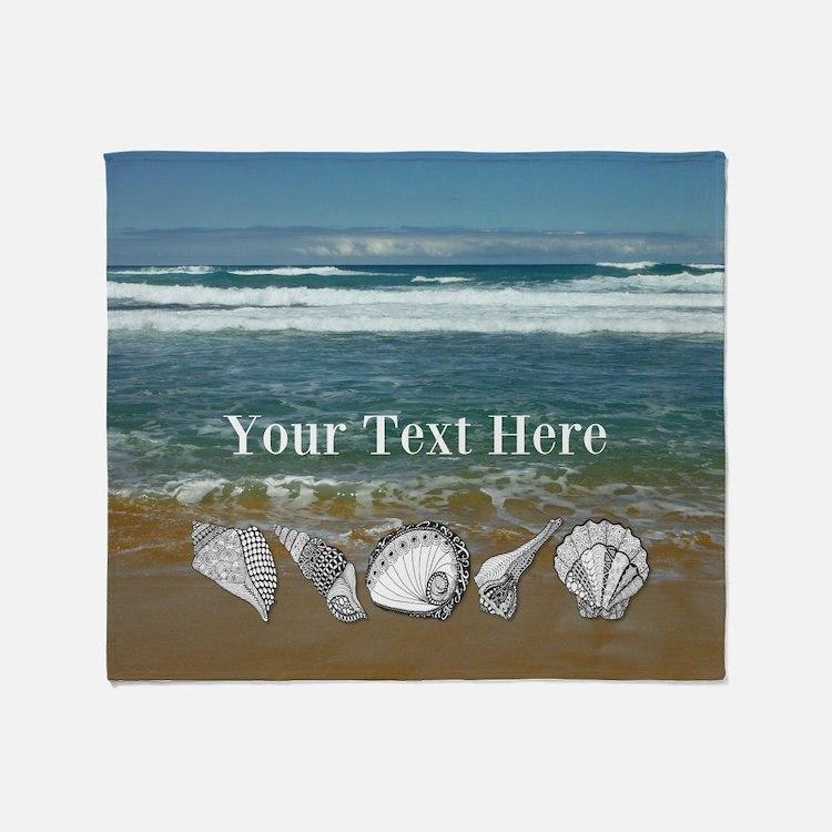 Customized Original Seashell Beach Art Throw Blank