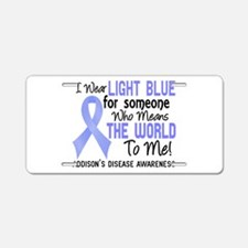 Addison's Disease MeansWorl Aluminum License Plate