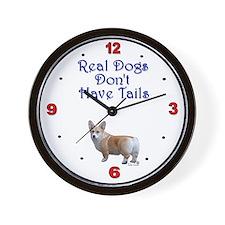 Real Corgi Wall Clock