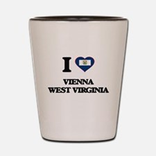 I love Vienna West Virginia Shot Glass