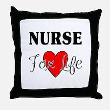 Nurse For Life Throw Pillow
