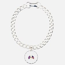 GREAT BRITAIN AND AMERICAN FLAGS Bracelet