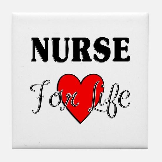 Nurse For Life Tile Coaster