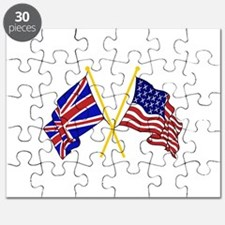 GREAT BRITAIN AND AMERICAN FLAGS Puzzle
