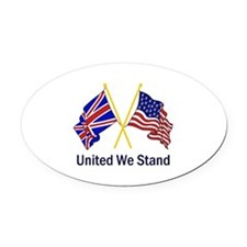 UNITED WE STAND Oval Car Magnet