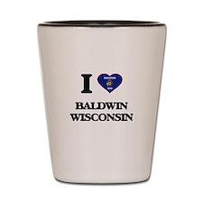 I love Baldwin Wisconsin Shot Glass