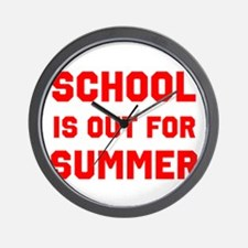 School is Out For Summer Wall Clock