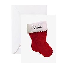 Vizsla Stocking Greeting Card