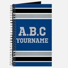 Blue Black Sports Jersey Stripes Personali Journal