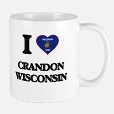 I love Crandon Wisconsin Mugs
