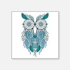Blue dreamcatcher owl Sticker
