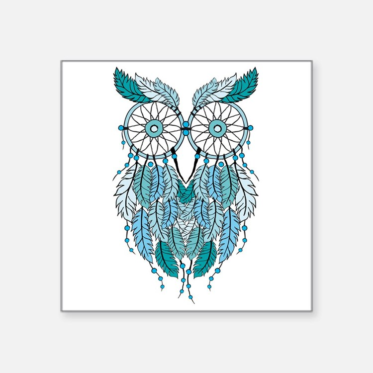 Blue dreamcatcher owl Sticker