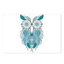 Blue dreamcatcher owl Postcards (Package of 8)