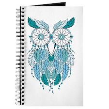 Blue dreamcatcher owl Journal