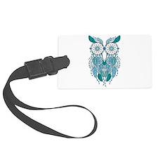 Blue dreamcatcher owl Luggage Tag