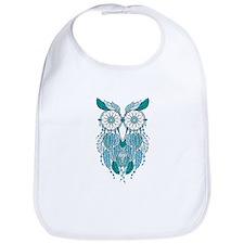 Blue dreamcatcher owl Bib