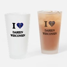 I love Darien Wisconsin Drinking Glass