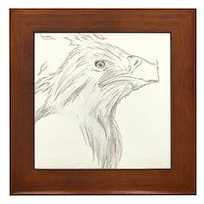 Line art Phoenix Framed Tile