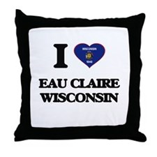 I love Eau Claire Wisconsin Throw Pillow