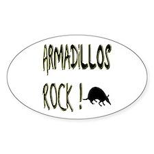 Armadillos Rock ! Oval Decal