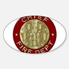 Fire chief brass sybol Decal