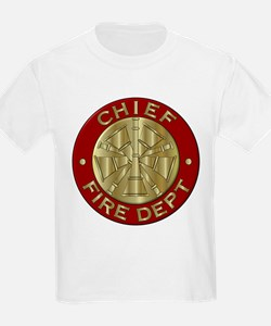 Fire chief brass sybol T-Shirt