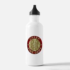 Fire chief brass sybol Water Bottle