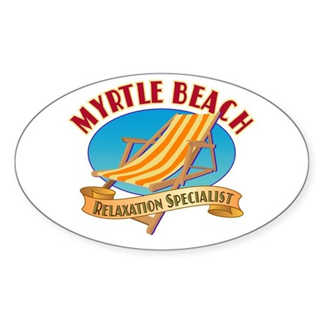 Myrtle Beach Relax - Oval Sticker