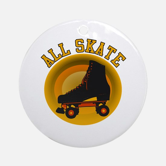Scott Designs All Skate Ornament (Round)