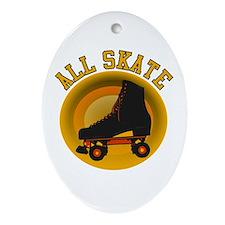 Scott Designs All Skate Oval Ornament