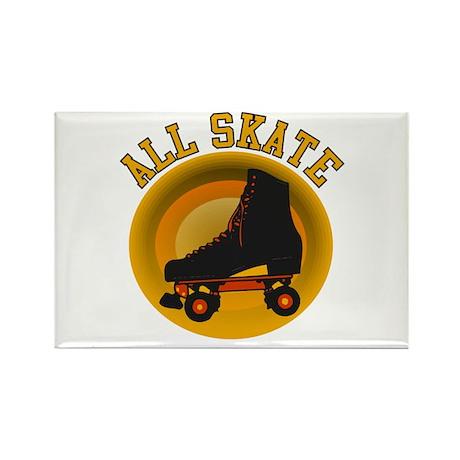 Scott Designs All Skate Rectangle Magnet