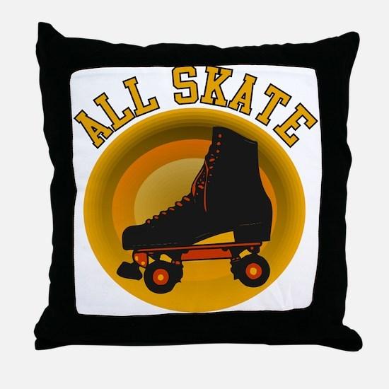 Scott Designs All Skate Throw Pillow