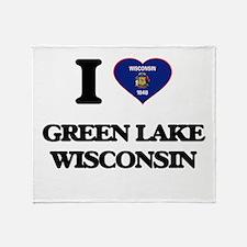 I love Green Lake Wisconsin Throw Blanket