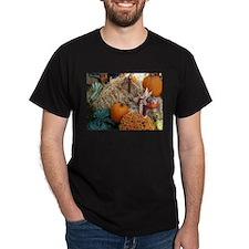 Harvest bounty of gourds, mums and pumpkin T-Shirt
